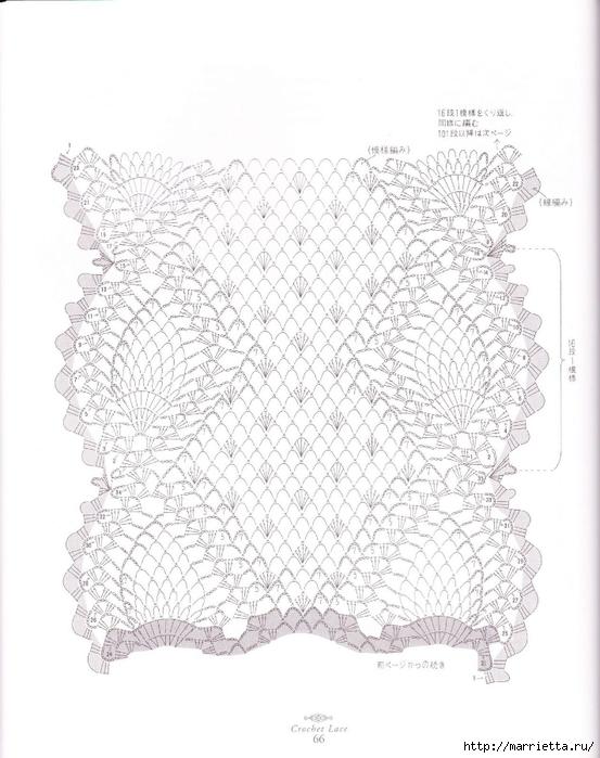 вязание крючком. салфетки (39) (553x700, 230Kb)