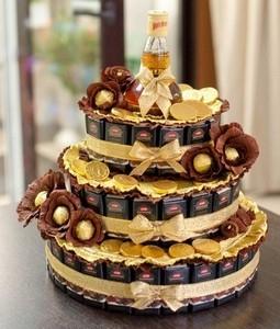 Торт из конфет для мужчины своими руками