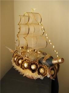 Корабль из бутылки коньяка своими руками