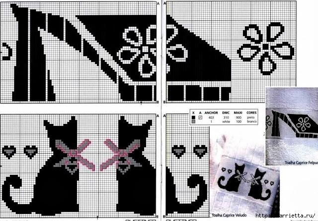 Черно-белая вышивка для банного полотенца (3) (640x446, 207Kb)