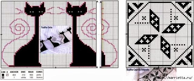 Черно-белая вышивка для банного полотенца (7) (640x268, 152Kb)