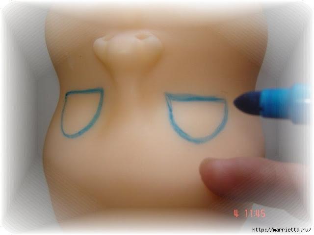 Как нарисовать глазки кукле из холодного фарфора (2) (640x480, 98Kb)