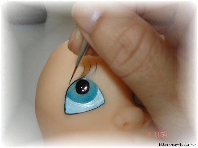 Как нарисовать глазки кукле из холодного фарфора (10) (640x480, 109Kb)