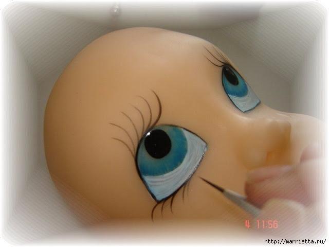 Как нарисовать глазки кукле из холодного фарфора (12) (640x480, 107Kb)