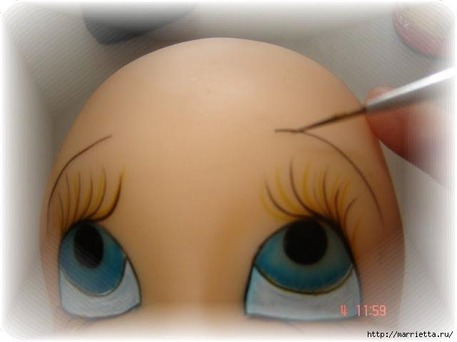 Как нарисовать глазки кукле из холодного фарфора (14) (640x480, 108Kb)