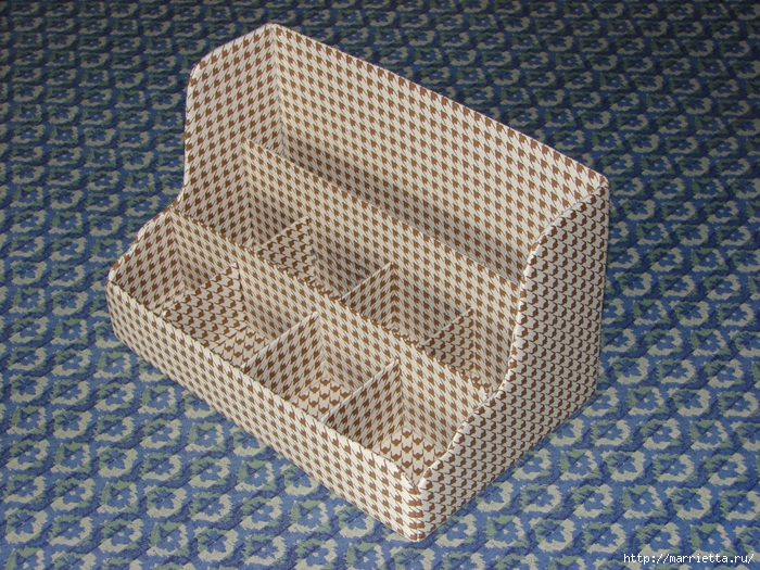 Полочка из картона для ванной комнаты, своими руками (2) (700x525, 449Kb)