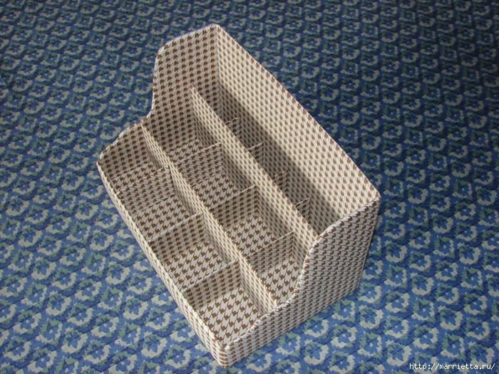 Полочка из картона для ванной комнаты, своими руками (4) (700x525, 448Kb)