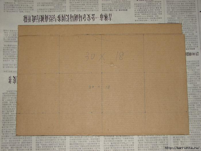 Полочка из картона для ванной комнаты, своими руками (6) (700x525, 281Kb)
