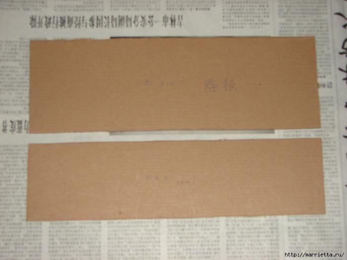 Полочка из картона для ванной комнаты, своими руками (8) (700x525, 198Kb)