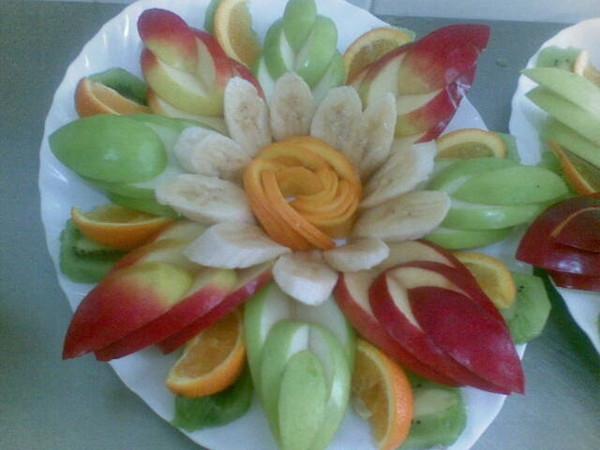 Нарезки фруктов с пошаговым