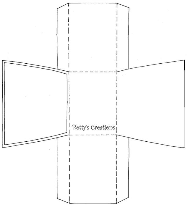 Коробочки, корзинки и новогодние игрушки из картона. Шаблоны (41) (637x700, 53Kb)