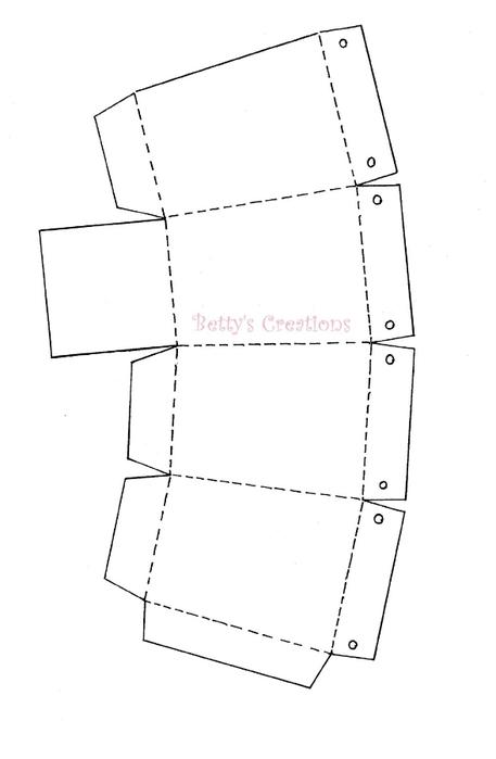 Коробочки, корзинки и новогодние игрушки из картона. Шаблоны (85) (457x700, 50Kb)