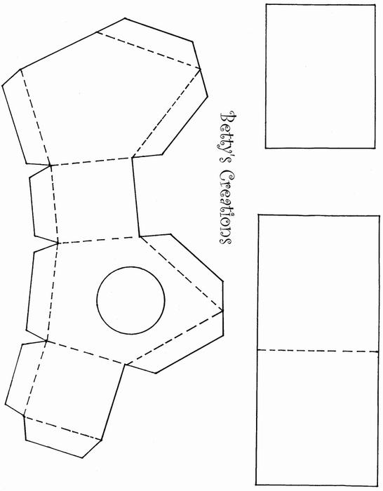 Коробочки, корзинки и новогодние игрушки из картона. Шаблоны (89) (546x700, 70Kb)
