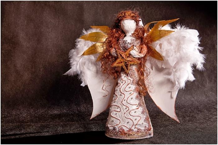 Рождественский ангел из папье маше. Видео мастер-класс (1) (700x468, 272Kb)