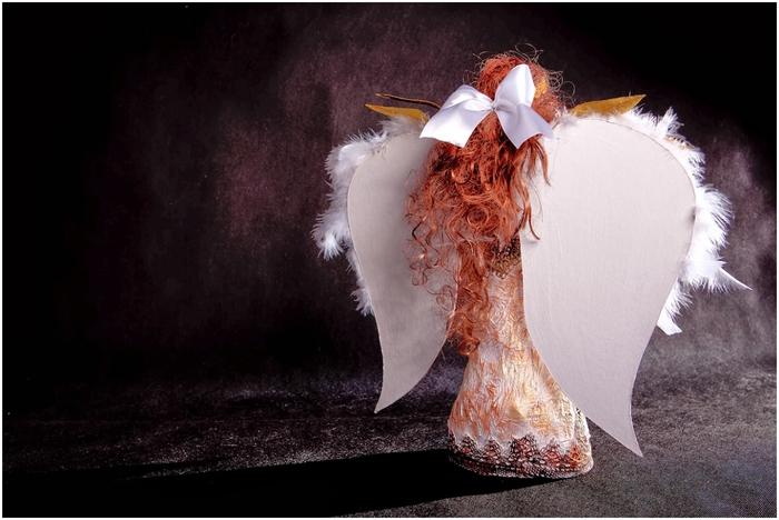 Рождественский ангел из папье маше. Видео мастер-класс (3) (700x468, 197Kb)