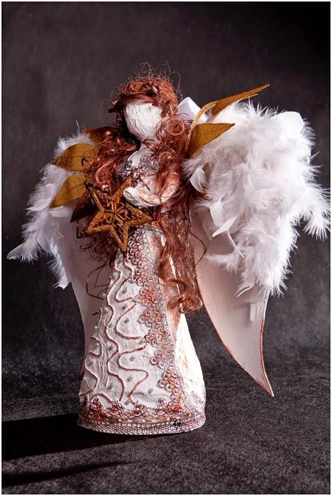 Рождественский ангел из папье маше. Видео мастер-класс (4) (468x700, 257Kb)