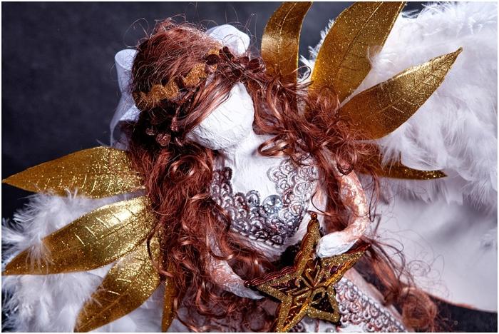 Рождественский ангел из папье маше. Видео мастер-класс (5) (700x468, 303Kb)