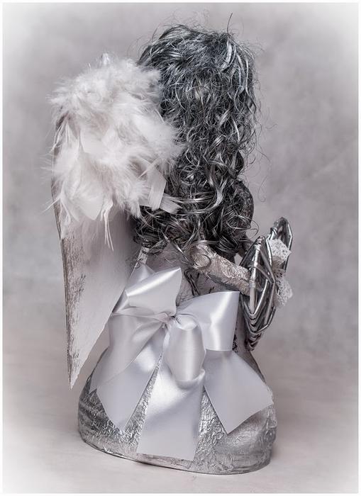 Рождественский ангел из папье маше. Видео мастер-класс (9) (509x700, 198Kb)