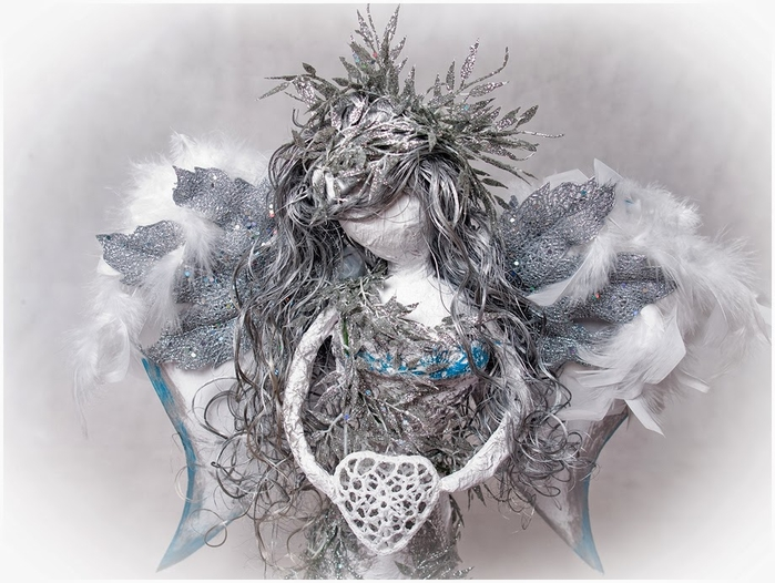 Рождественский ангел из папье маше. Видео мастер-класс (13) (700x526, 244Kb)
