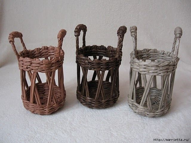 Плетение из газетных трубочек мастер