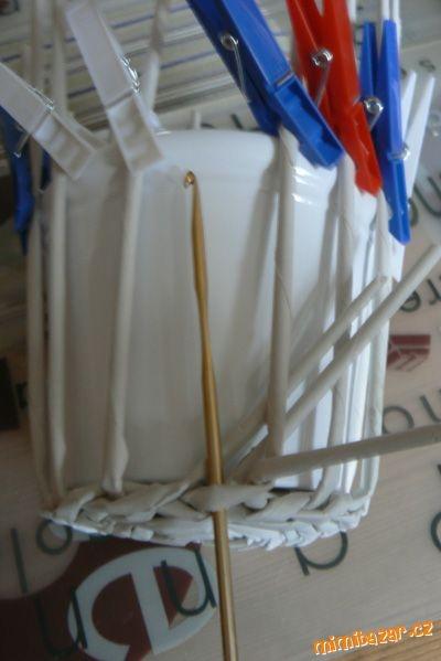 Мастер класс газетные трубочки для плетения тищенко
