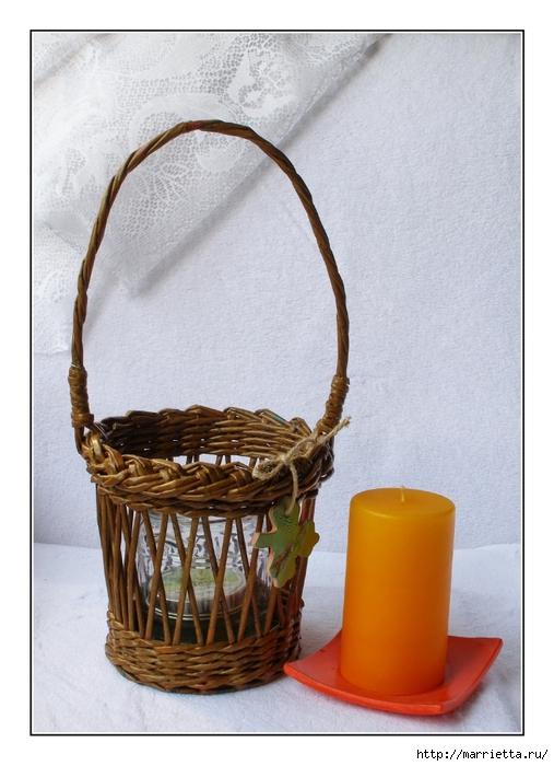 Плетение из газет. Винтажное кашпо из газетных трубочек. Идеи и мастер-класс (44) (507x700, 244Kb)