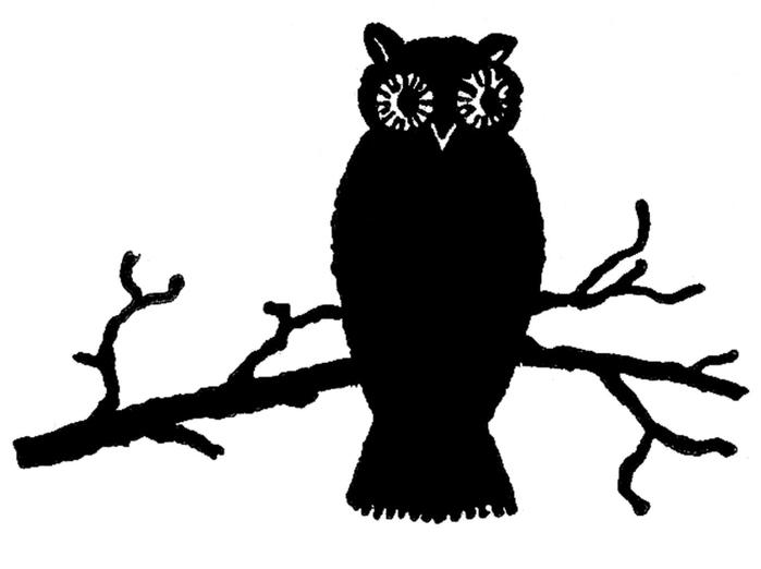 СОВЫ. Винтажные картинки для творчества (11) (700x522, 55Kb)