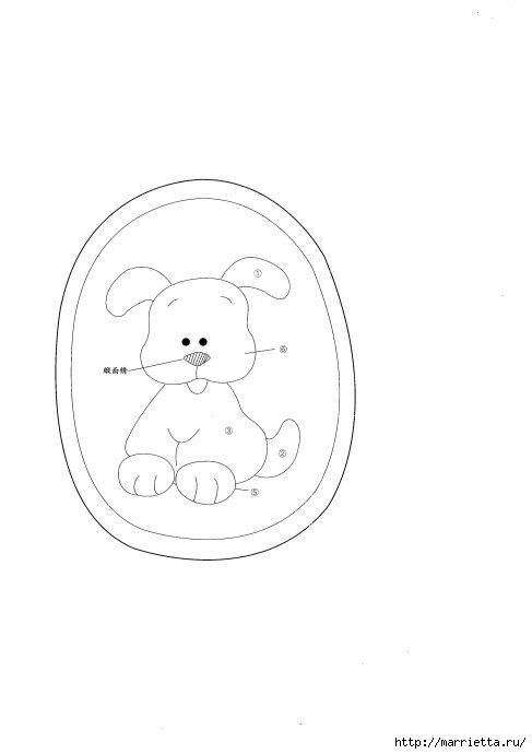 Детские кошельки с изображением животных. Шьем сами. Выкройки (3) (487x690, 43Kb)