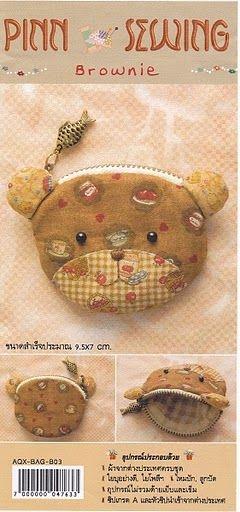 Детские кошельки с изображением животных. Шьем сами. Выкройки (7) (240x512, 88Kb)
