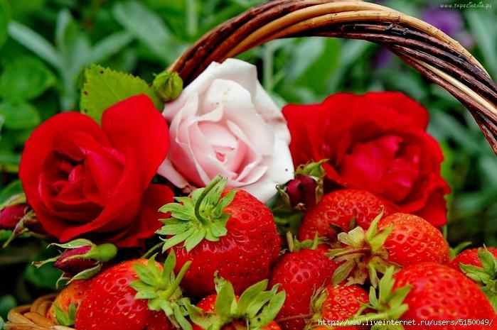 ягоды и цветы картинки 7