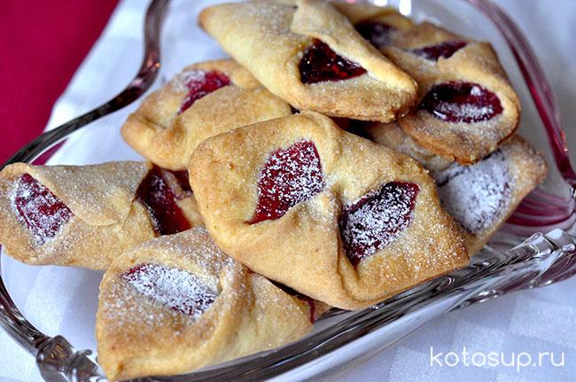 Домашние печенье с вареньем рецепт с фото