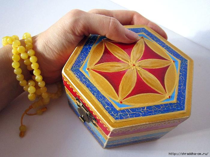 шкатулка Цветок Жизни, автор Shraddha (1) (700x525, 296Kb)
