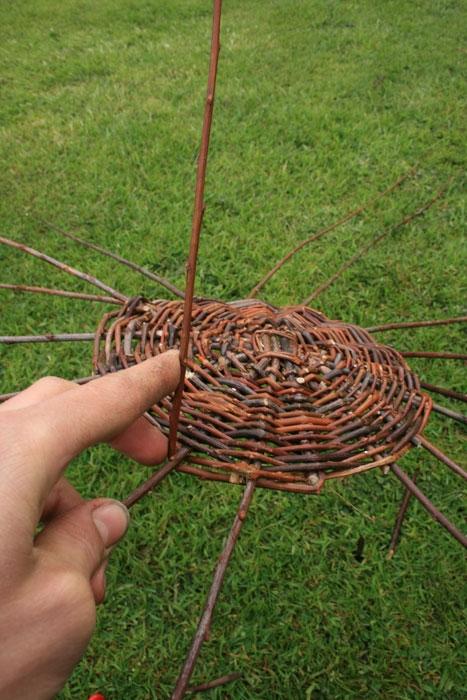 Как вязать корзину из прутьев