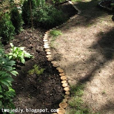 Для дачи и сада. Декоративный заборчик из спилов бревен (21) (400x400, 182Kb)