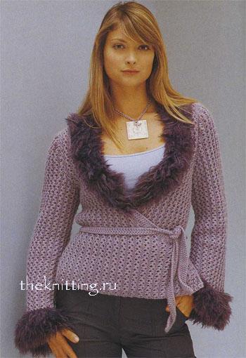 Комментарий: Вязание спицами кофты женские.