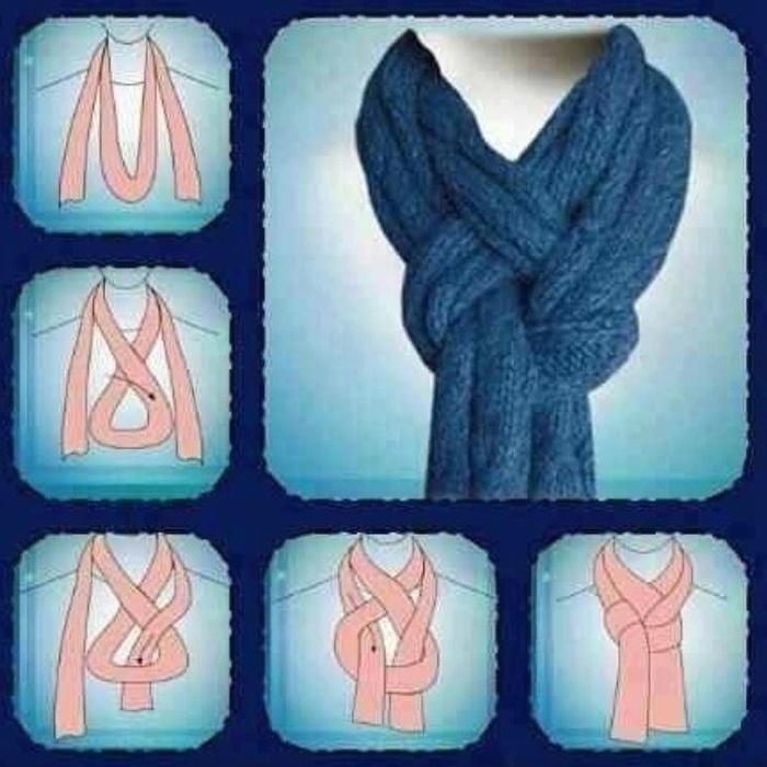 Как красиво завязать шарфы