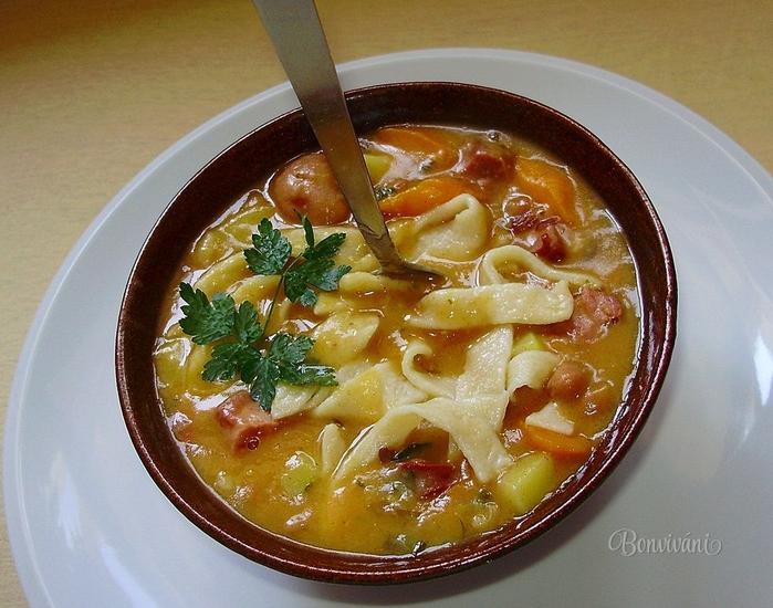 Фасолевый суп с лапшой. Фото рецепт (13) (700x550, 301Kb)