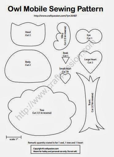 Для детской комнаты. Мобиль из фетровых совушек (16) (371x511, 72Kb)