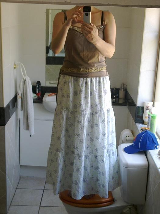 Длинная юбка на широкой резинке своими руками 10