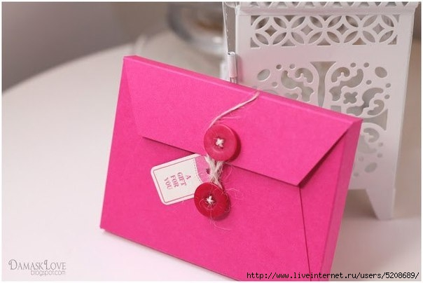 Коробка конверт своими руками