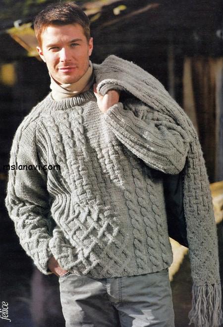 вязаный-пуловер-для-мужчин (450x658, 124Kb)