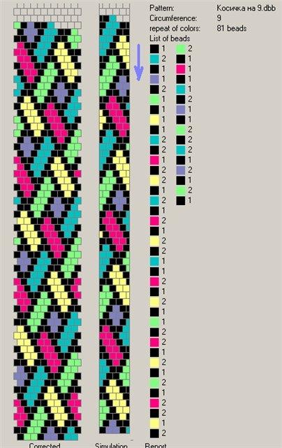 Вязание бисером жгутов полустолбиком