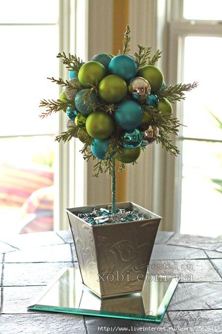 Новогоднее дерево из шаров своими руками