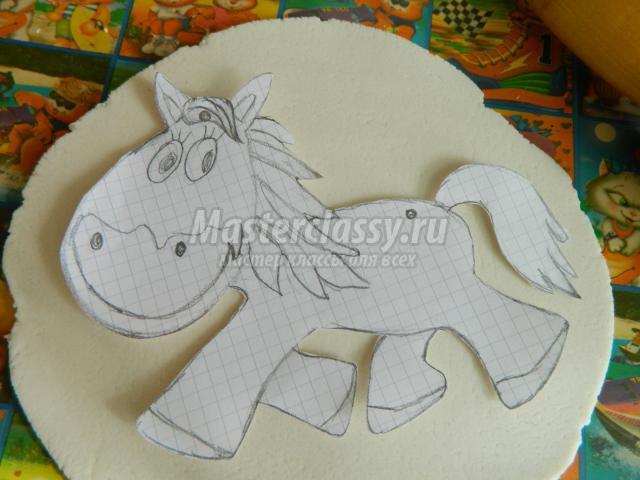 Поделка из соленого теста лошадь 59