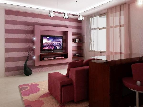 телевизор в интерьере (1) (600x450, 151Kb)