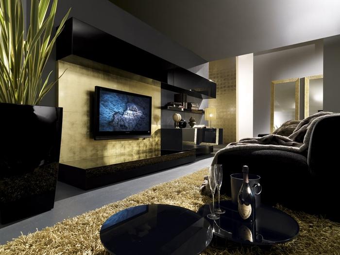 Дизайн стены где телевизор