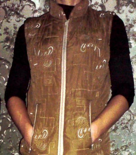 жилет из кожаной куртки своими руками синтетической ткани