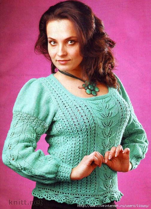 бирюзовы пуловер (504x700, 371Kb)