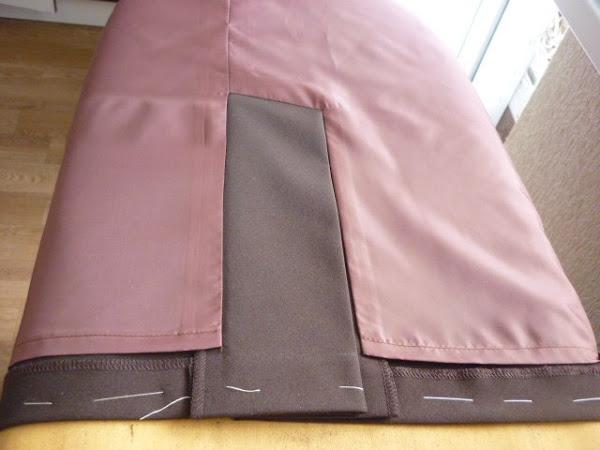 Обработка шлицы на юбке с подкладом видео