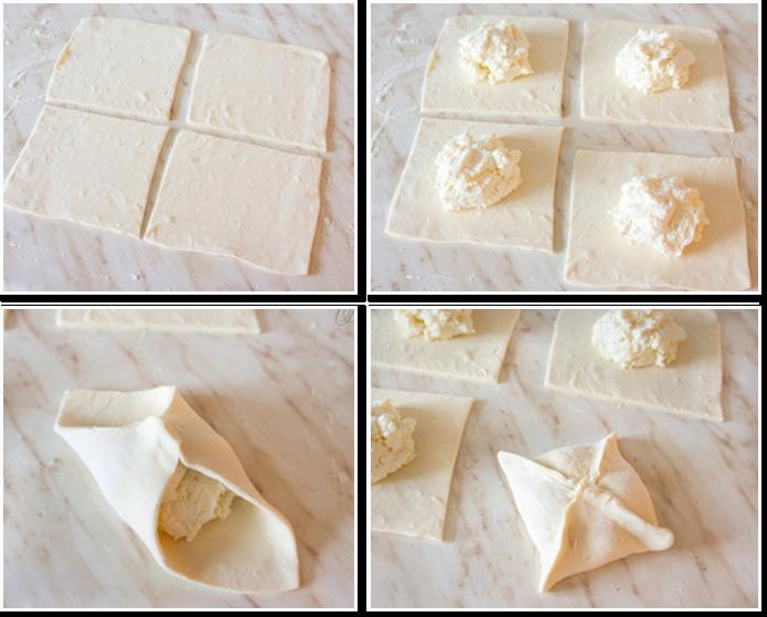 Хачапури с сыром из слоеного теста 3 фотография